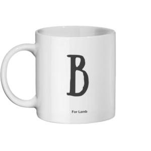 B For Lamb Mug Left-side