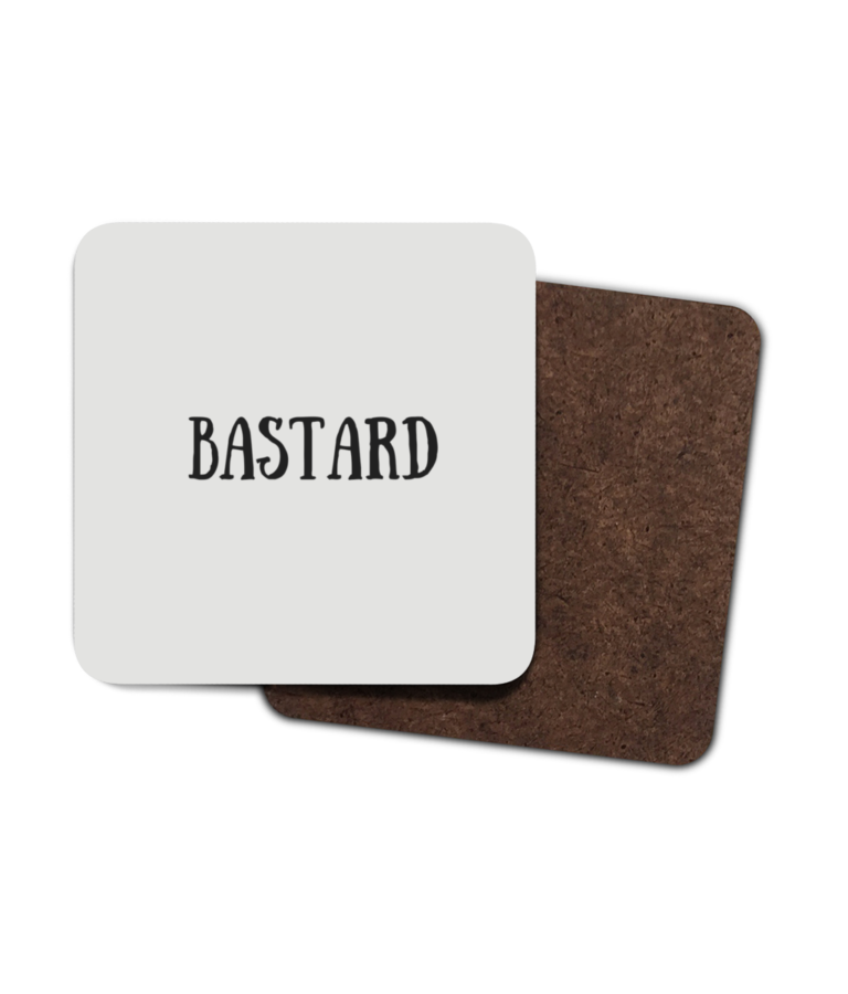 Bastard 4 Pack Hardboard Coasters front