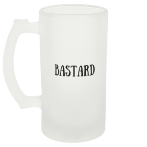 Bastard Frosted Beer Glass Left-side
