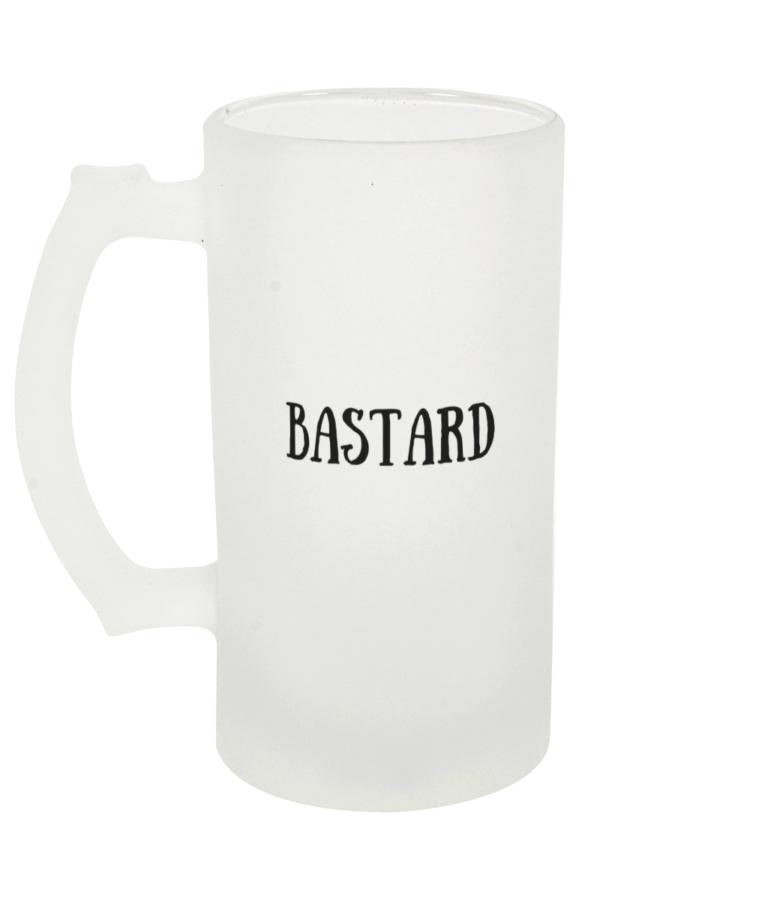 Bastard Frosted Beer Glass Left-side