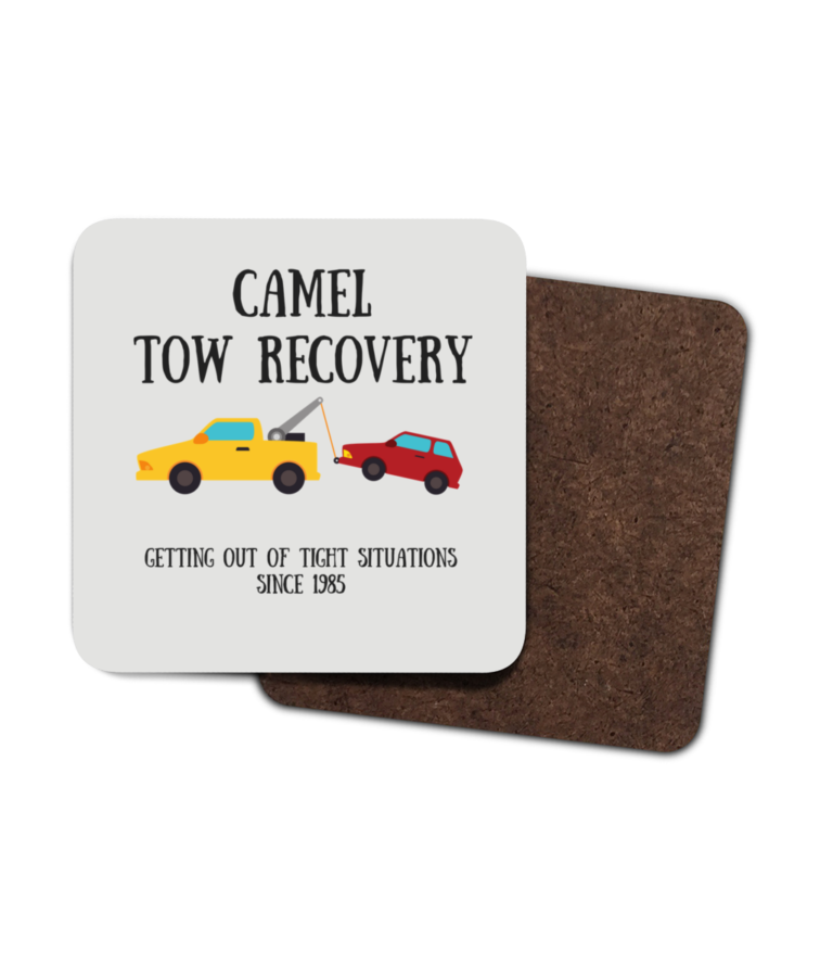 Camel Tow 4 Pack Hardboard Coasters front
