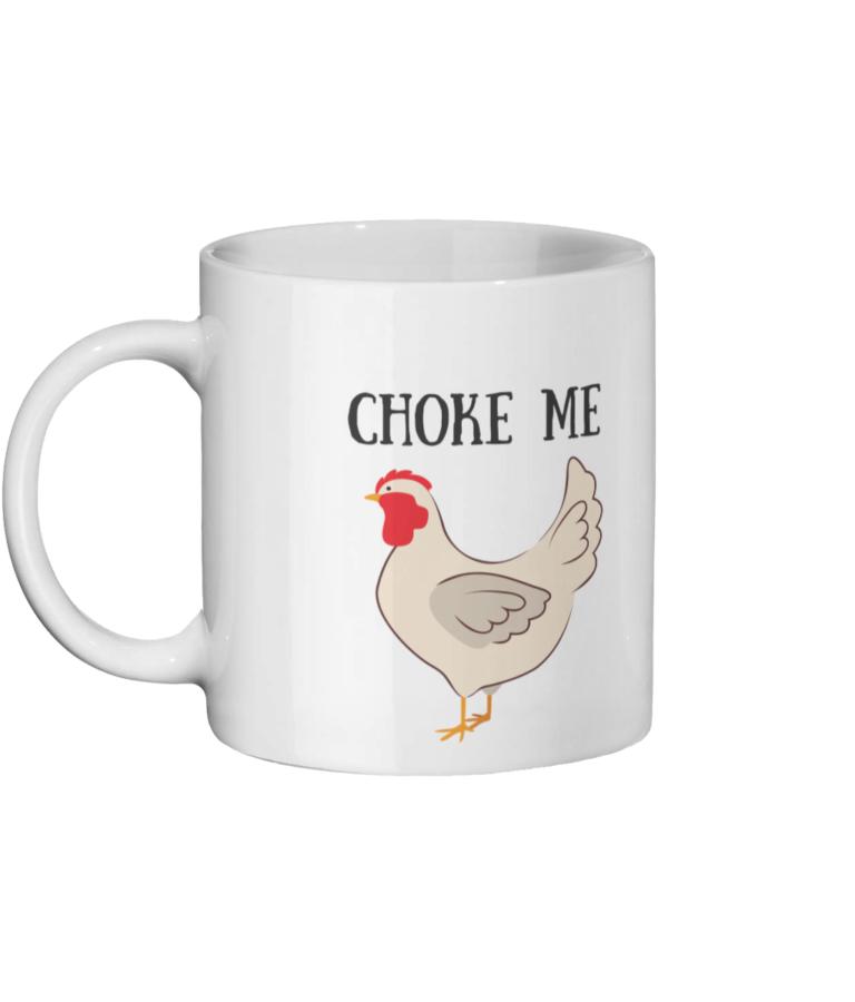 Choke Chicken Mug Left-side