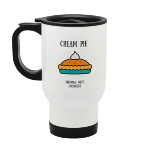 Cream Pie Stainless Steel Travel Mug Left side