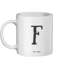 F for Lump Mug Left-side