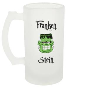 Franken Stein Frosted Beer Glass Left-side