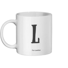 L For Leather Mug Left-side