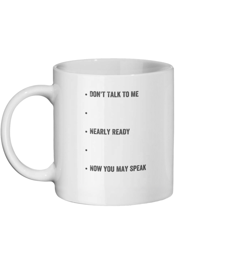 Level Speak Mug Left side