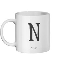 N for Lope Mug Left-side