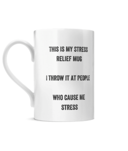 Posh Stress Relief Mug Left side