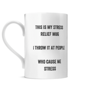 Posh Stress Relief Mug Left side