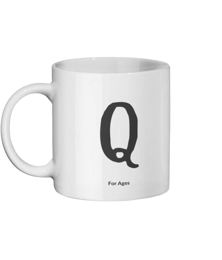 Q For Ages Mug Left-side