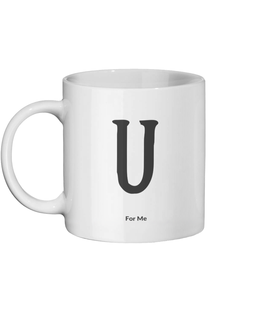 U For Me Mug Left-side