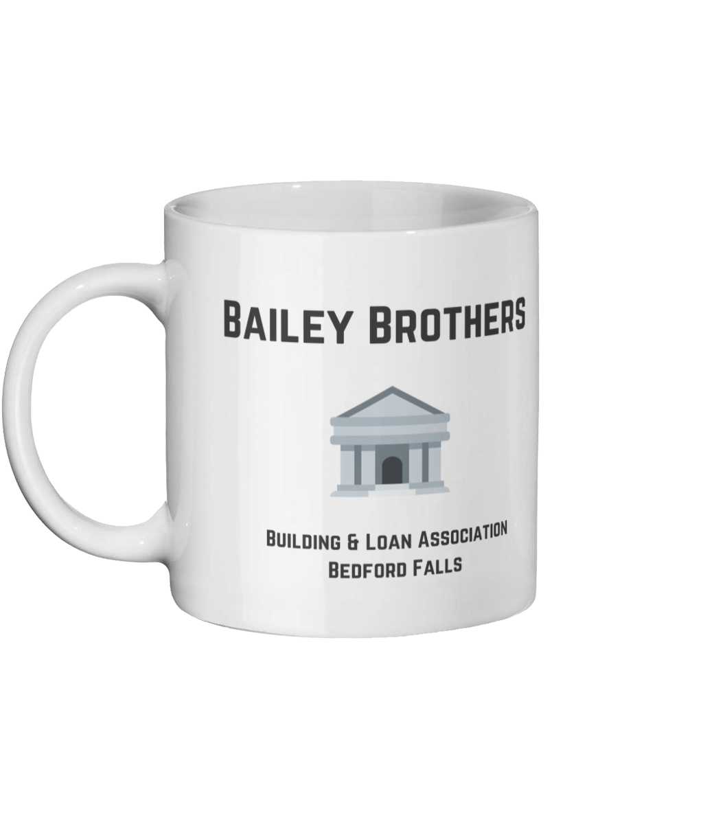 It's A Wonderful Life Bailey Brothers Mug Left-side