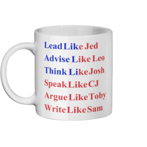 Lead Like Jed Flag West Wing Mug Left-side
