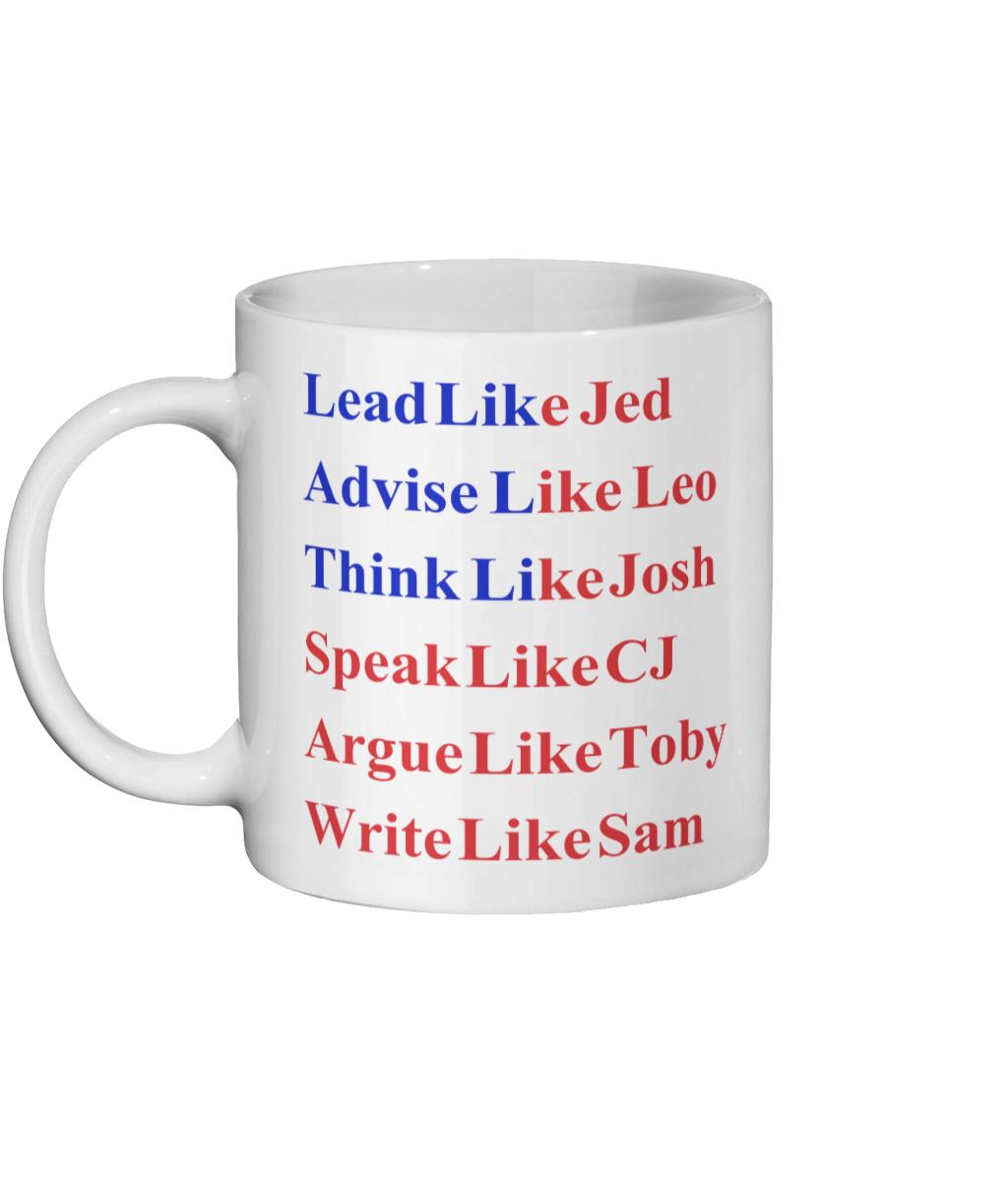 Lead Like Jed Flag West Wing Mug Left-side