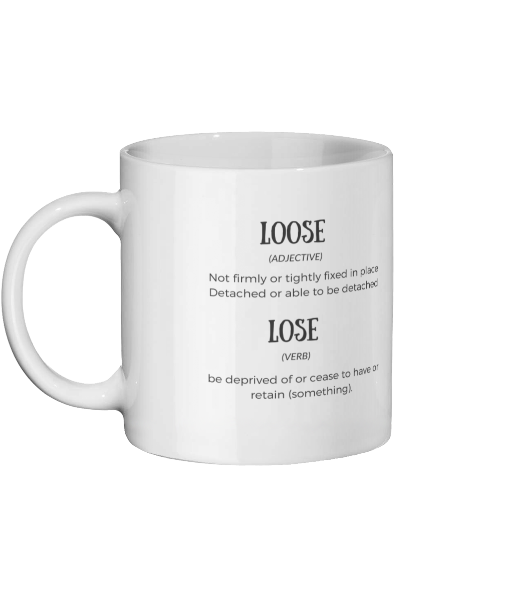 Loose Lose Definition Mug Left-side