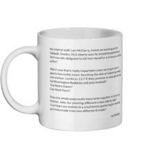 Bartlett Quotes Scripture Mug Left-side